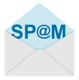 Spam mail. 3d generated picture of a spam mail Royalty Free Stock Photos