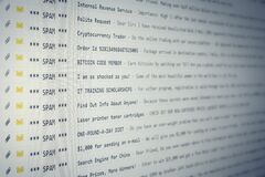 Free Spam Mail Full Inbox Angled Stock Photography - 184593342
