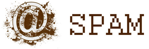 Spam Messy Blot Banner Royalty Free Stock Images