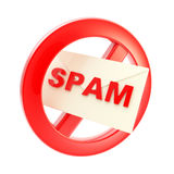 Spam is not allowed forbidden sign Royalty Free Stock Image