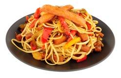 Spam Pork Meat Stir Fry Stock Images
