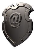 Spam protection. Shield with emailsymbol - 3d illustration Royalty Free Stock Image
