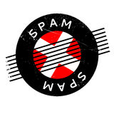 Spam rubber stamp. Grunge design with dust scratches. Effects can be easily removed for a clean, crisp look. Color is easily changed stock photography