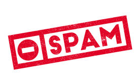 Spam rubber stamp Stock Images