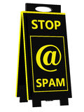 Spam! Sinal de perigo Fotografia de Stock Royalty Free