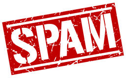 Spam square stamp. Spam square grunge red stamp Royalty Free Stock Photo