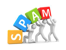SPAM. Teamwork metaphor Stock Image