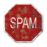 Spam traffic sign Royalty Free Stock Image