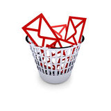 Spam. A trash full with spam mails Royalty Free Stock Photos