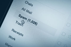 Spam trouble Royalty Free Stock Photography