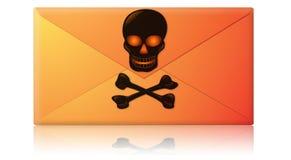Spam, virus, enveloppe d'email de Phishing Images stock