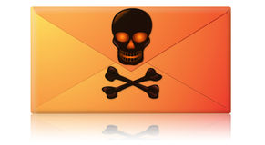 Spam, Virus, Phishing Email Envelope Stock Images