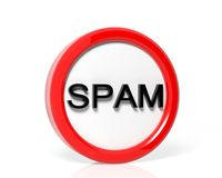Spam warning sign Royalty Free Stock Photo