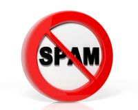 Spam warning Stock Photos