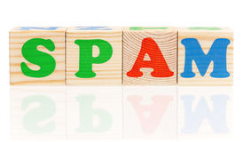 Spam word Stock Photo