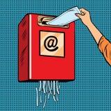 Spama grata dżonki email ilustracji