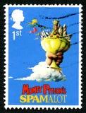 Spamalot Britse Postzegel Stock Afbeelding