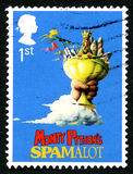 Spamalot UK Postage Stamp Stock Image