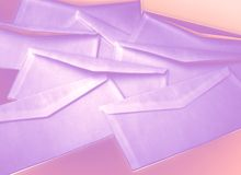 Spamming. Some envelopes treated on photoshop to get a ghosty feeling, metaphore for internet spamming Royalty Free Stock Images