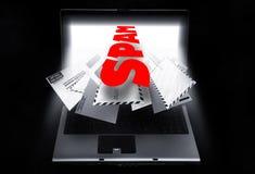 Spamming del email Fotografia Stock Libera da Diritti