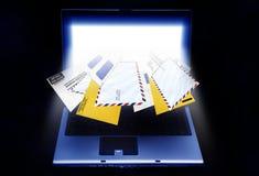 Spamming del email Fotografia Stock