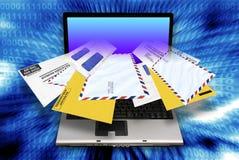 Spamming del email Imágenes de archivo libres de regalías