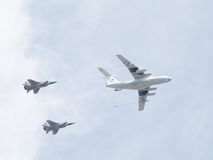 The span of the aircraft at the Victory Parade Stock Image