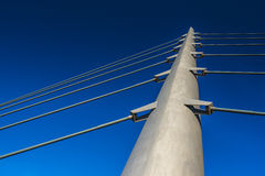 Span of bridge on blue sky Royalty Free Stock Photo