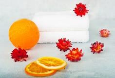 Span i apelsin färgar Arkivfoton