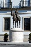 Countess of Barcelona statue, Seville, Spain. Statue of the Countess of Barcelona on horseback Condesa de Barcelona, Seville, Seville Province, Andalusia, Spain stock photo