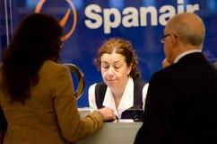 Spanair cesse de voler après manque d'argent Photographie stock libre de droits
