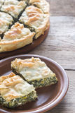 Spanakopita - Greek spinach pie Royalty Free Stock Images