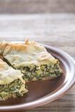 Spanakopita - Greek spinach pie Stock Photography