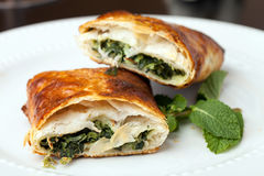 Spanakopita Spinach Pie Stock Photos
