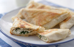 Spanakopita triangles Stock Photo