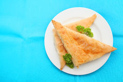 Spanakopita triangles Stock Images