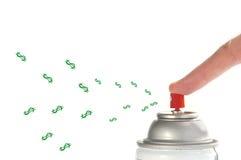 Spanda i soldi Immagine Stock