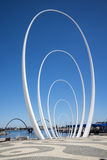 The Spanda - a 29 meter art sculpture at Elizabeth Quay waterfront in Perth City Stock Photography