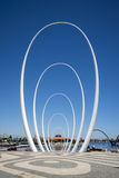 The Spanda - a 29 meter art sculpture at Elizabeth Quay waterfront in Perth City Stock Images