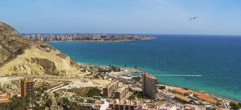 Spane. Alicante.Mediterranean Overzees Royalty-vrije Stock Foto