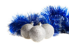 Spangled silver balls Royalty Free Stock Photography