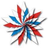 spangled stjärnahjul Arkivfoto
