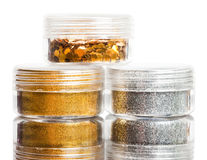 Spangles are in a jar Stock Images