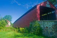 Spangsville covered bridge. This is one of the many covered bridges found in pa stock image