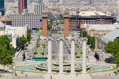Spania square in Barcelona Spain stock photos