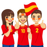 Spaniard Soccer Fans Royalty Free Stock Photography
