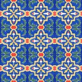 Spanich Moroccan style vintage ceramic tile. Portuguese Spanich Moroccan style vintage ceramic tile pattern Stock Photos