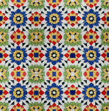 Spanich Moroccan style vintage ceramic tile Royalty Free Stock Photos