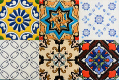 Spanich Moroccan style vintage ceramic tile Royalty Free Stock Image