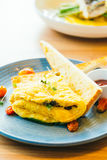 Spanich omelet in plate Stock Photos